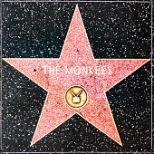 The Monkee star on Hollywood Walk of Fame