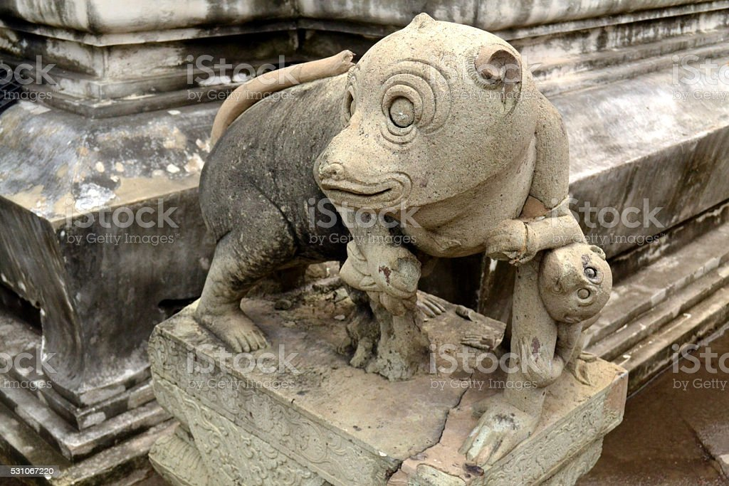 The Monkey Statue stock photo