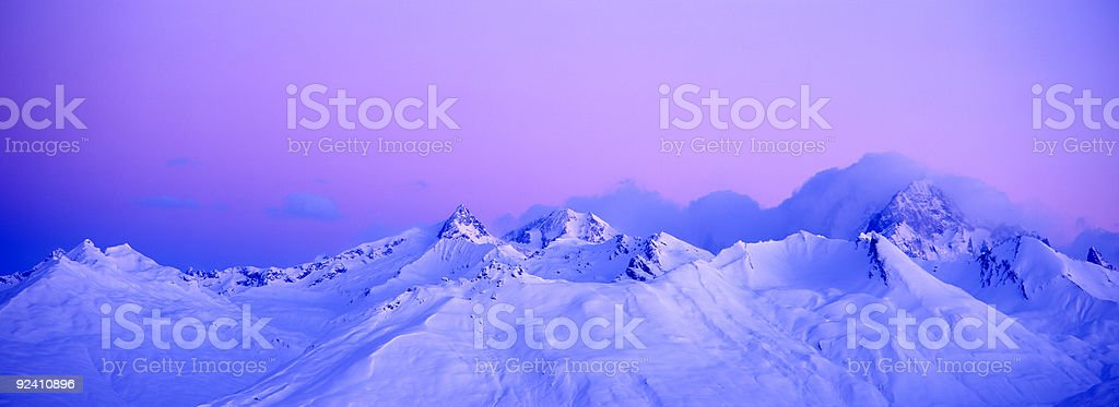 the Mont blanc royalty-free stock photo