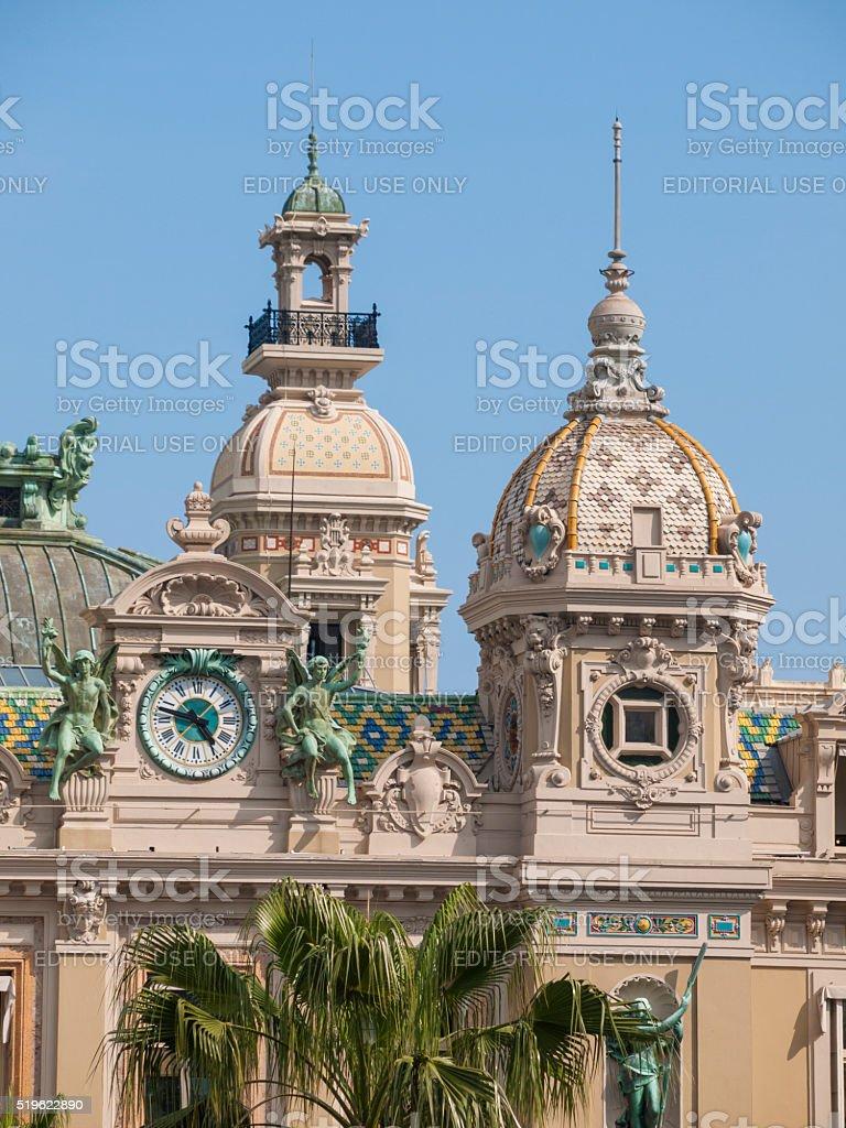 The Monte Carlo Casino in Monaco stock photo