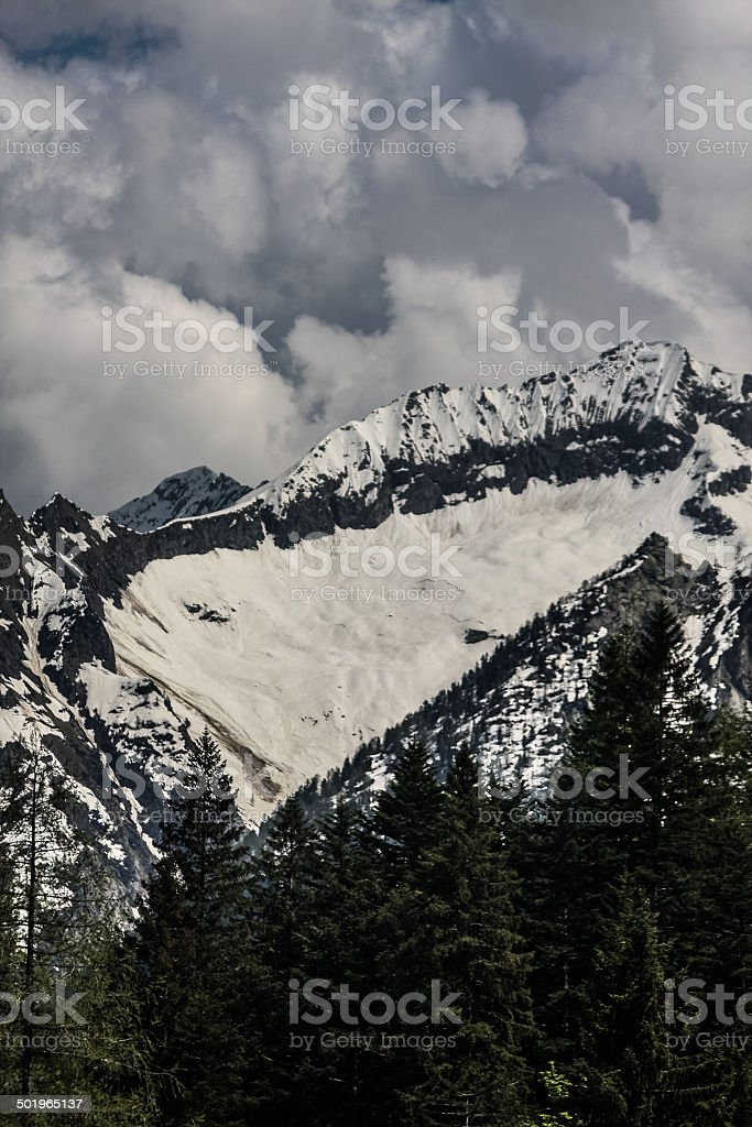 the Monte Rosa Alps stock photo