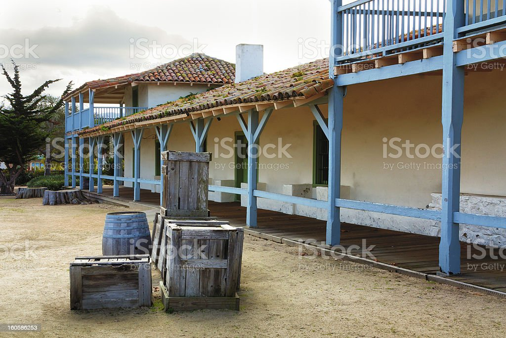 The Monterey Bay Customs House royalty-free stock photo