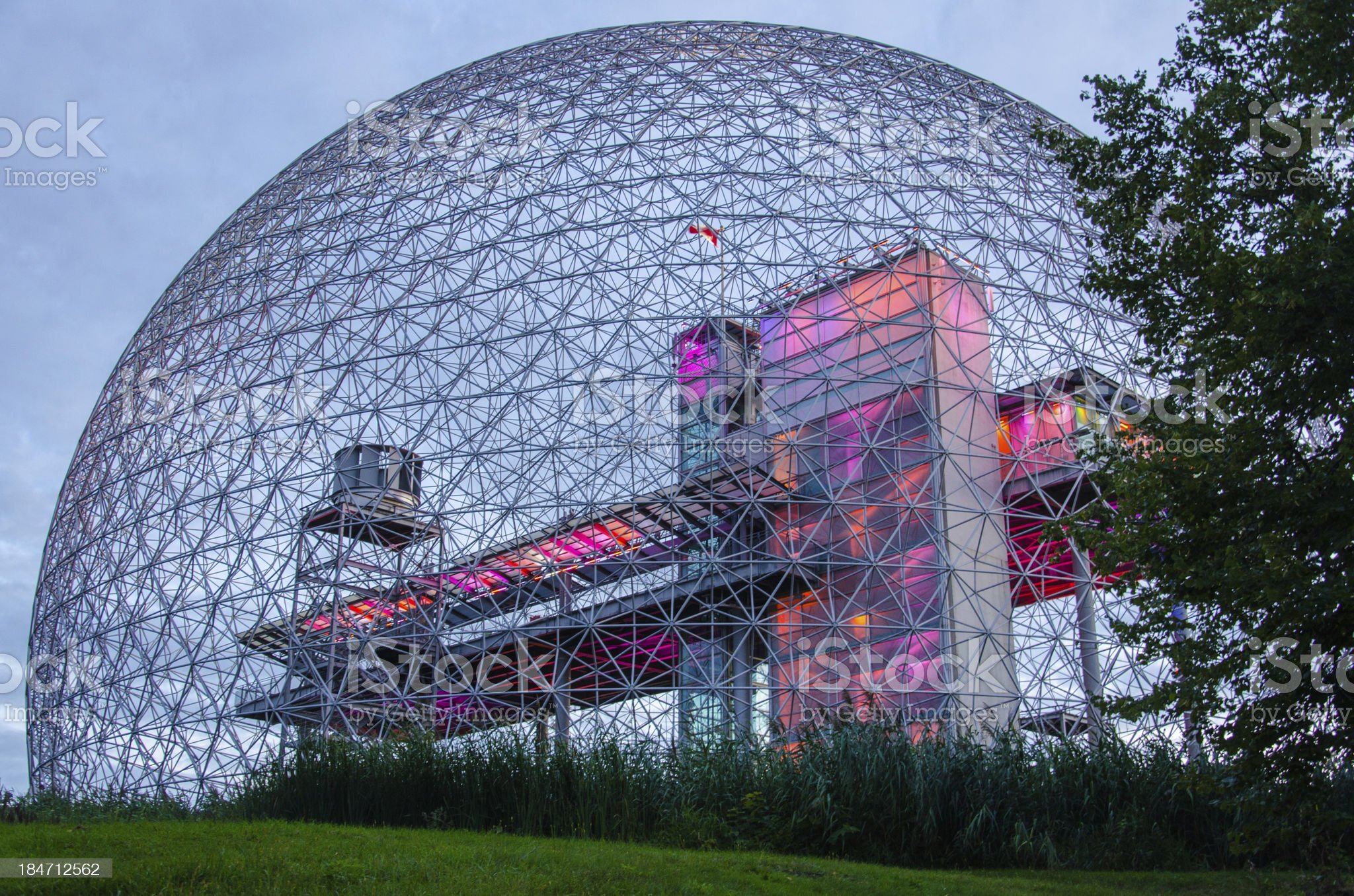 The Montreal Biosphere royalty-free stock photo