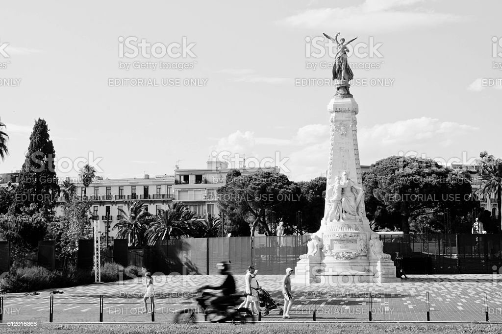 The monument Centenaire in Nice stock photo