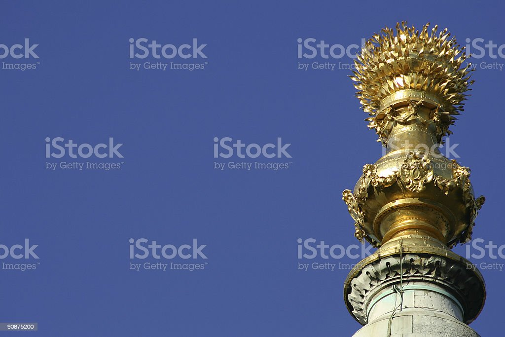 The Monument in City of London, England stock photo