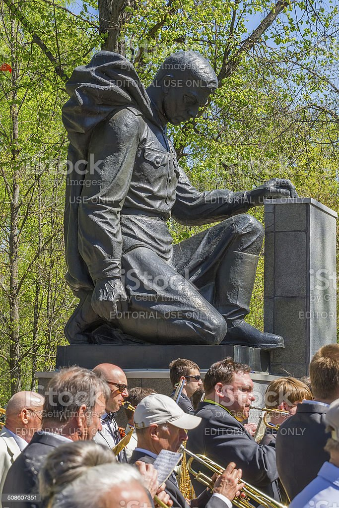 The monument in the Great Patriotic War royalty-free stock photo