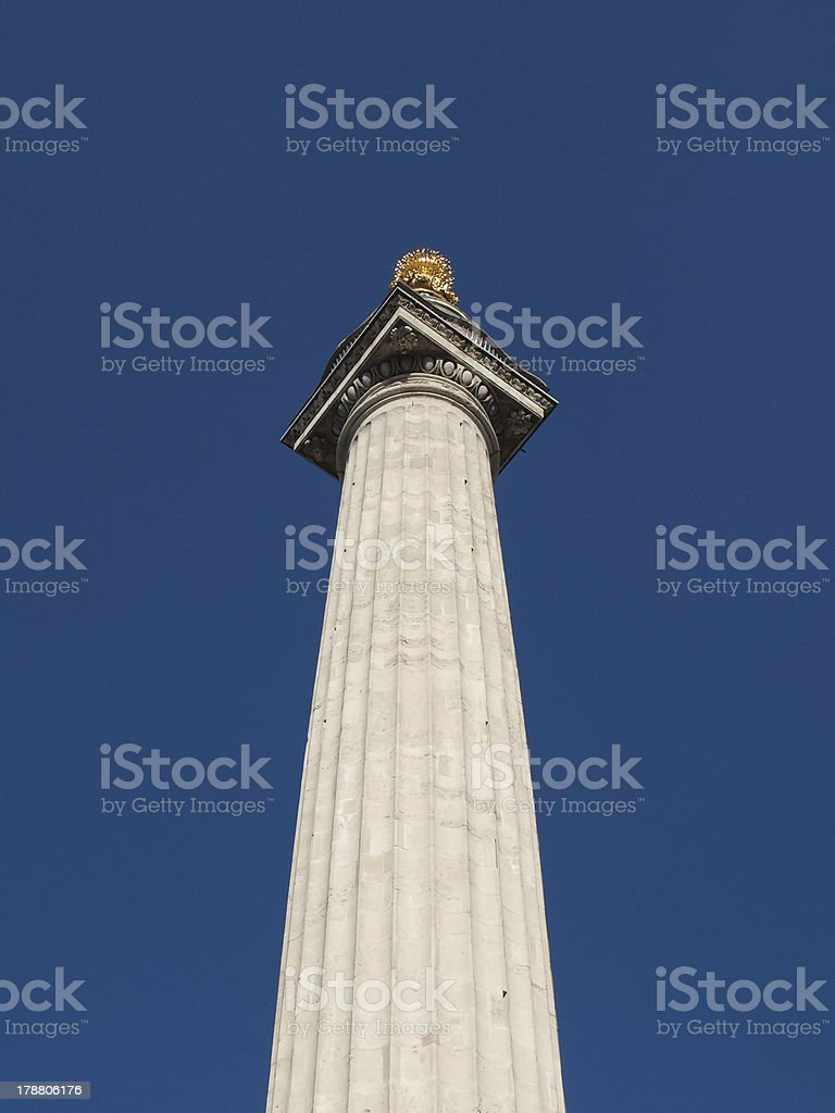The Monument, London stock photo