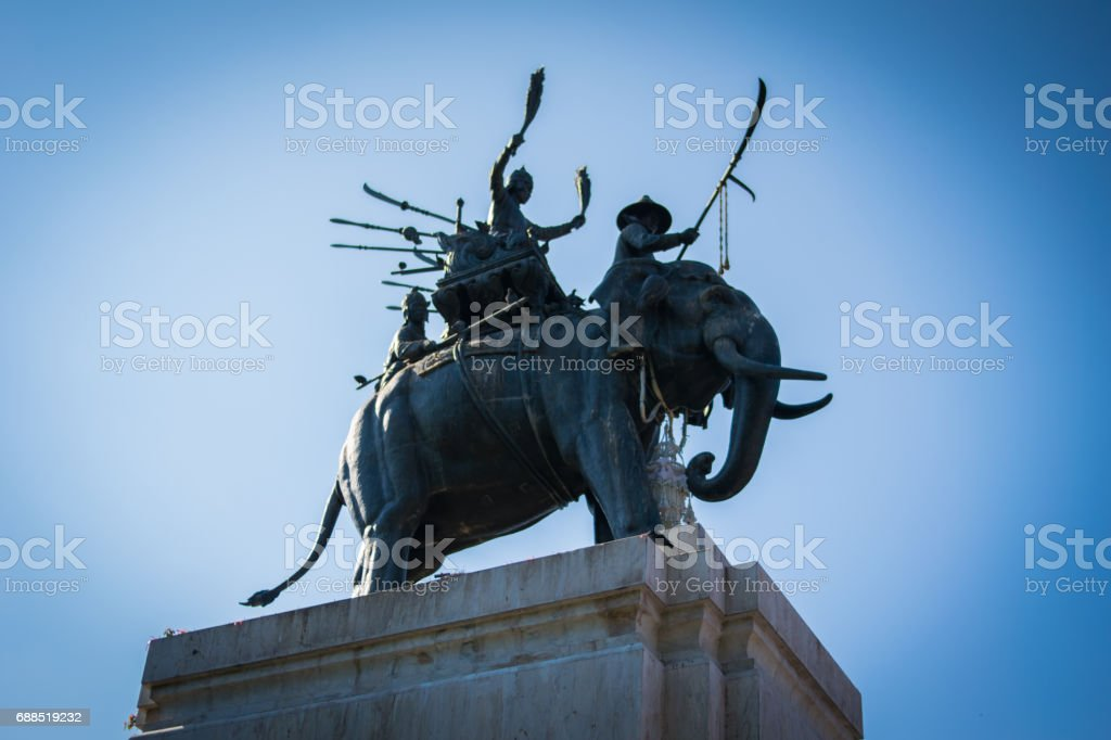The monument of King Naresuan the great stock photo