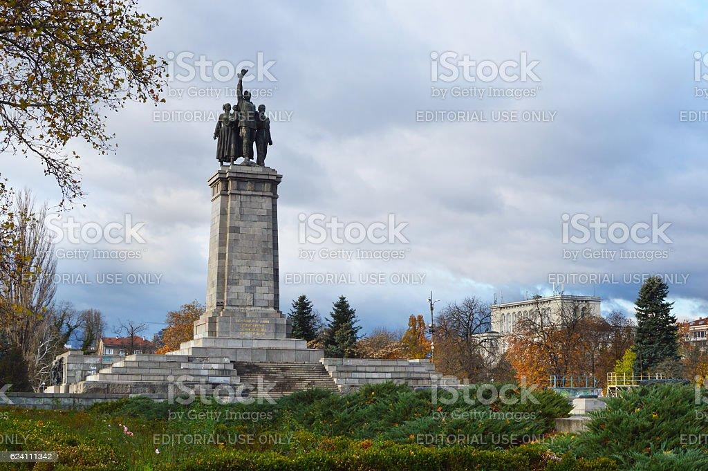 The monument of Soviet army, Sofia, Bulgaria stock photo