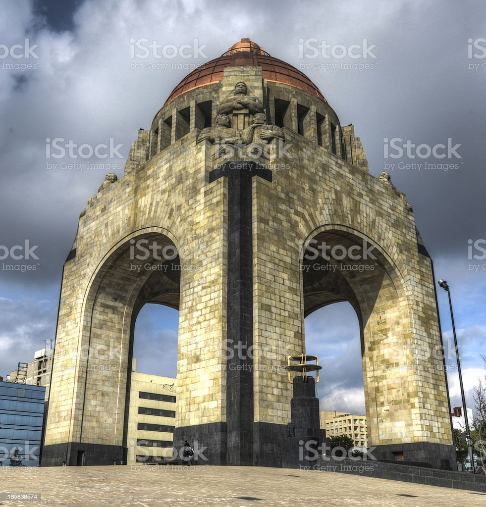 The monument of the Mexican Revolution stock photo