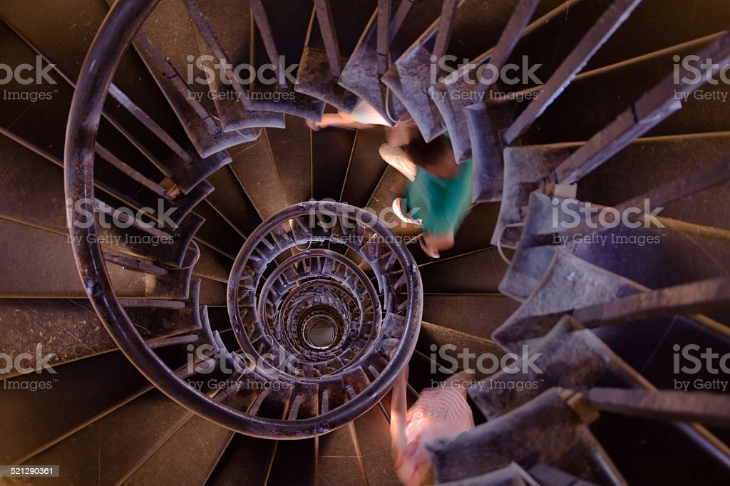 The Monument Spiral Staircase stock photo