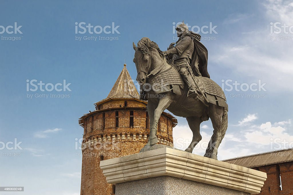 The monument to Dmitry Donskoy royalty-free stock photo