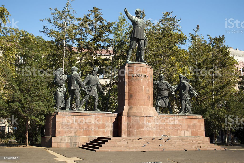 The Monument to Lajos Kossuth in Budapest royalty-free stock photo