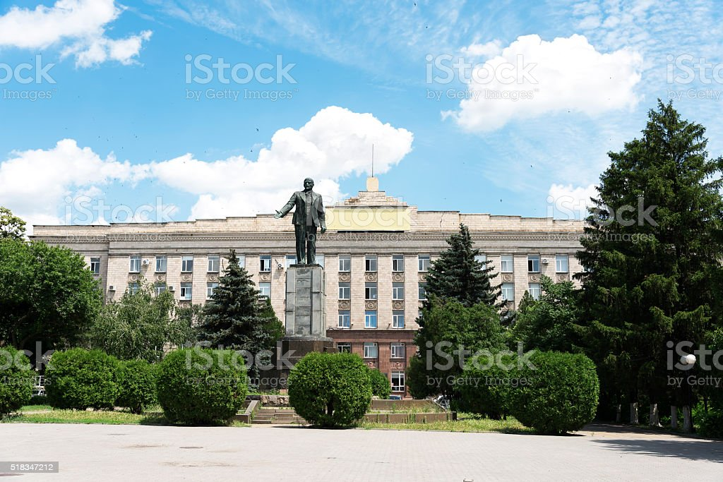 The monument to Lenin. Russia. Rostov on Don. stock photo