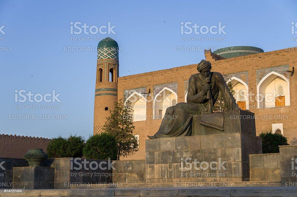 The monument to Muhammad ibn Musa al-Khwarizmi stock photo