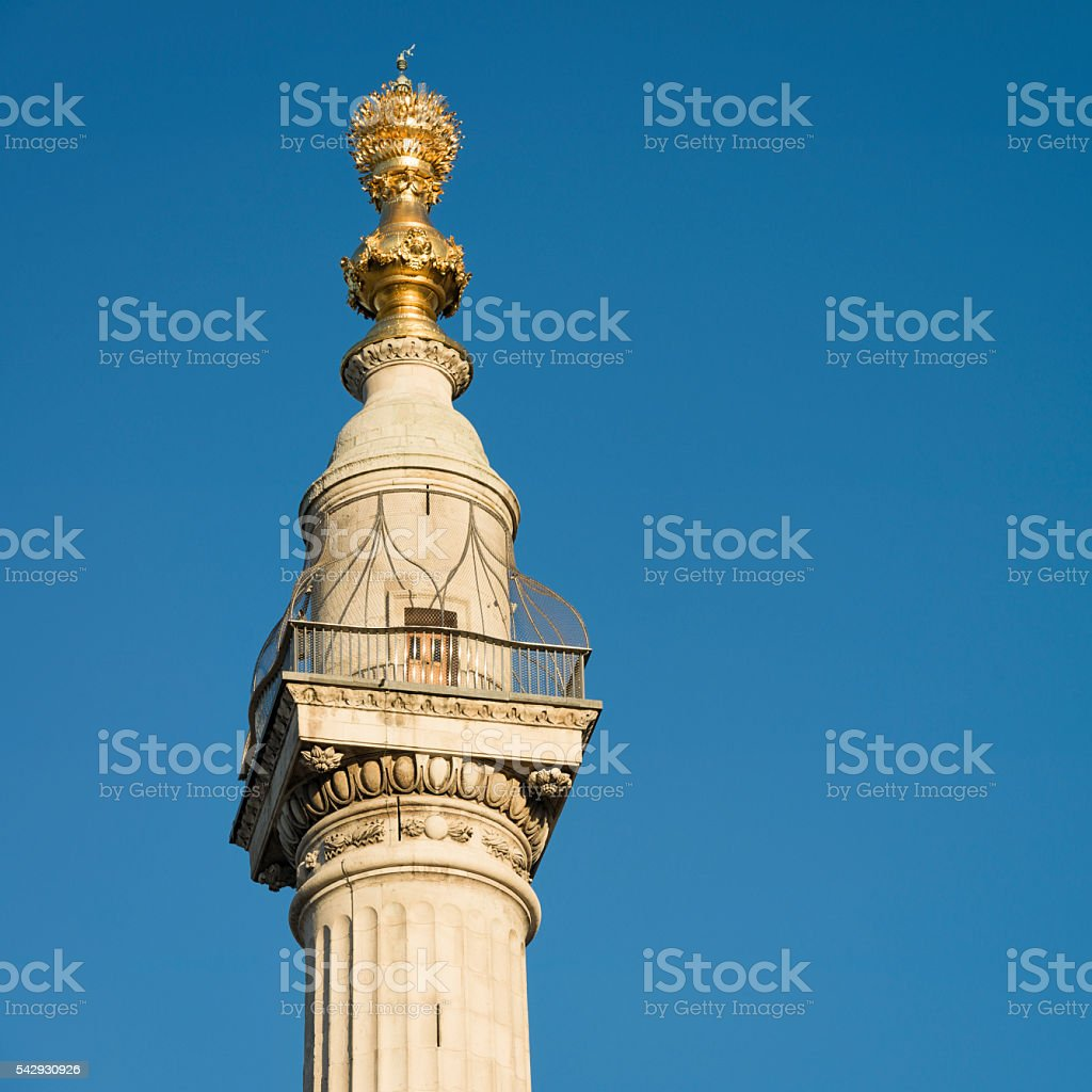 The Monument to the Great Fire of London stock photo