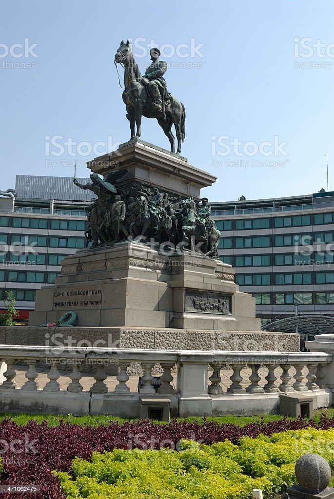 The monument Tsar Osvoboditel in Sofia Bulgaria stock photo