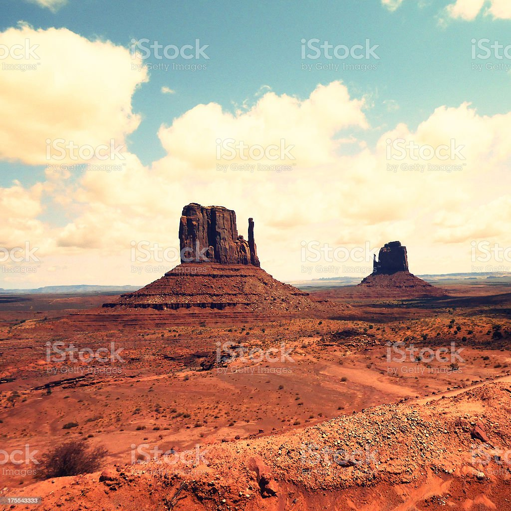 The monument valley landscape stock photo