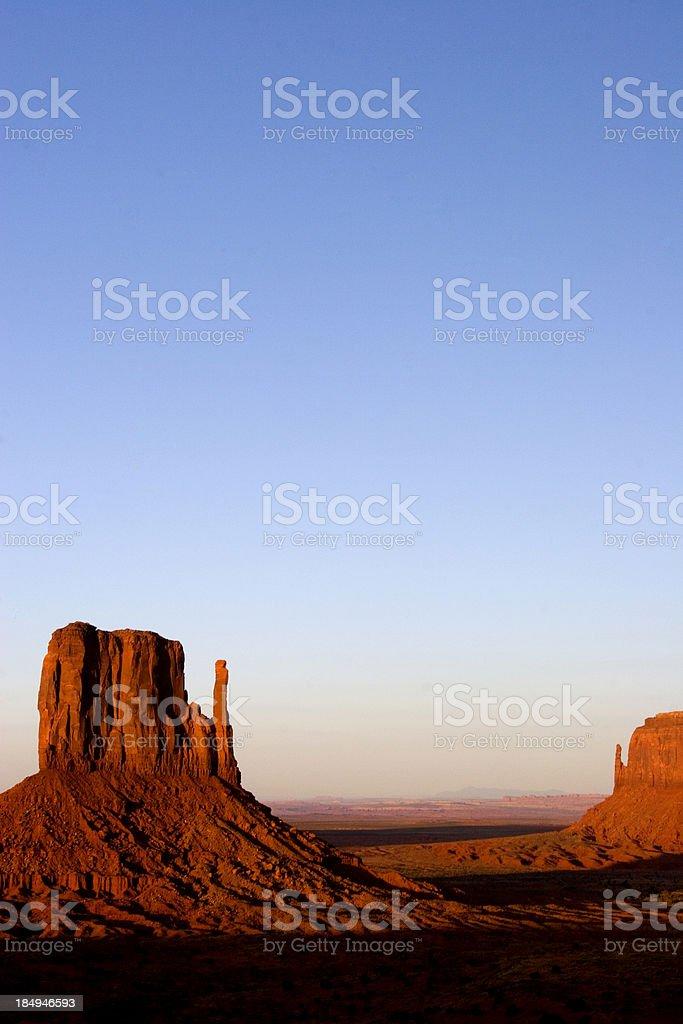 The Monument Valley, Navajo Nation in Arizona royalty-free stock photo