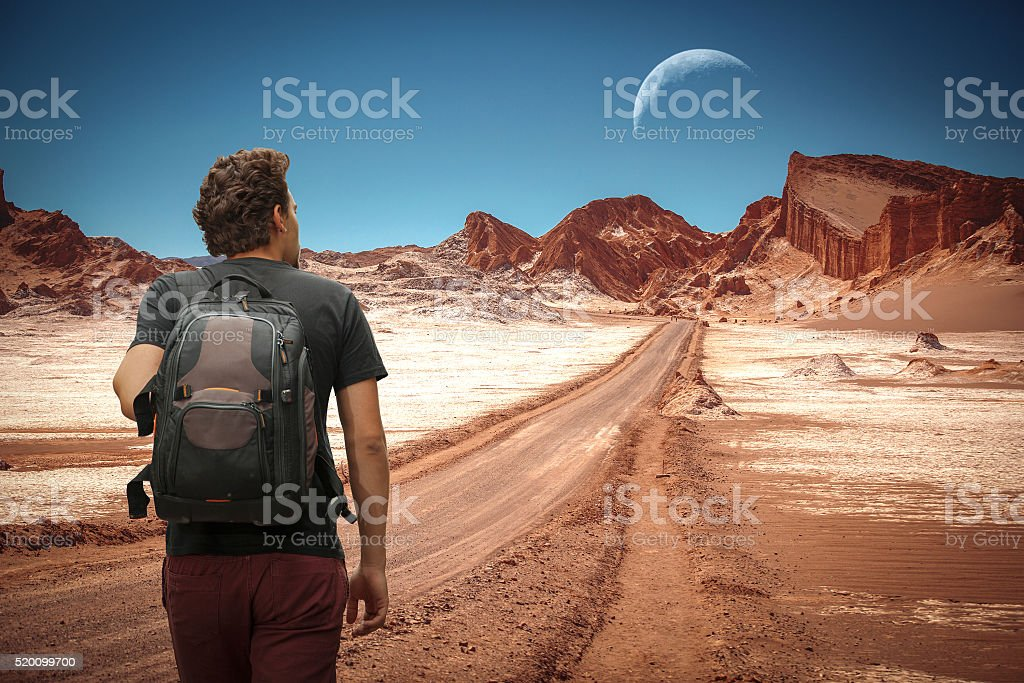 The moon in the Moon Valley. stock photo