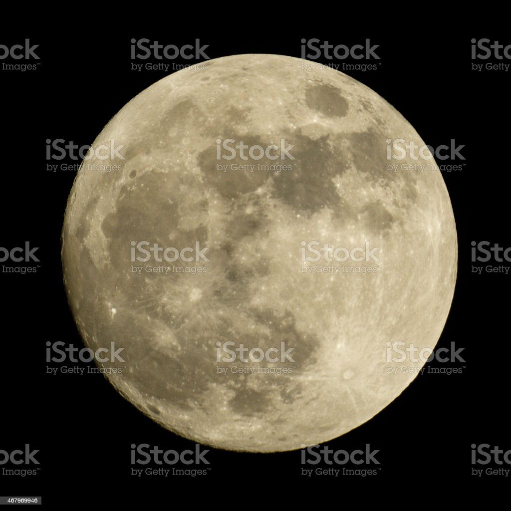The Moon on a night sky. stock photo