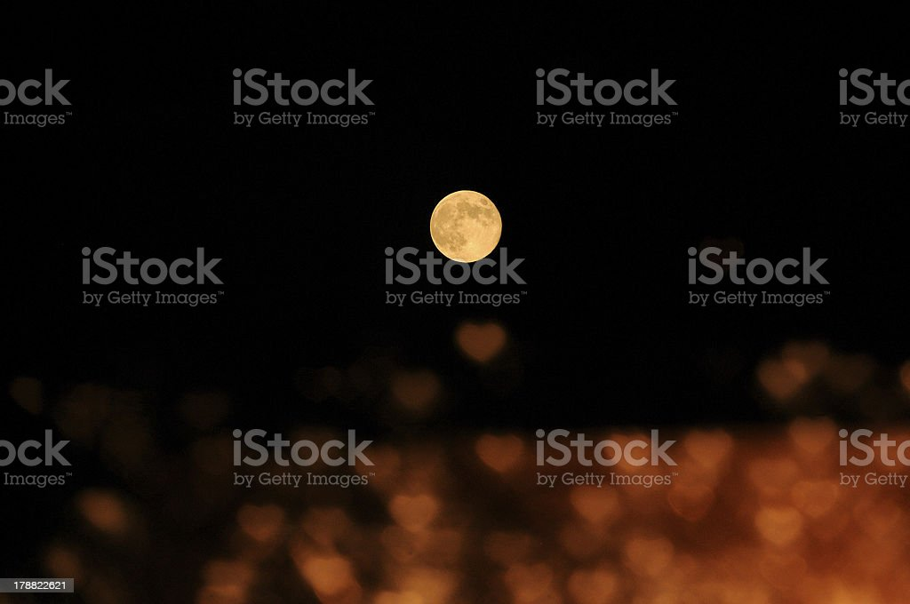 The moon represents my heart royalty-free stock photo