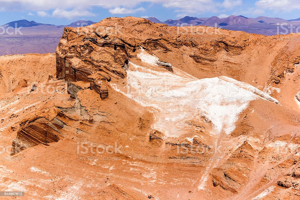 The Moon Valley in Chile stock photo