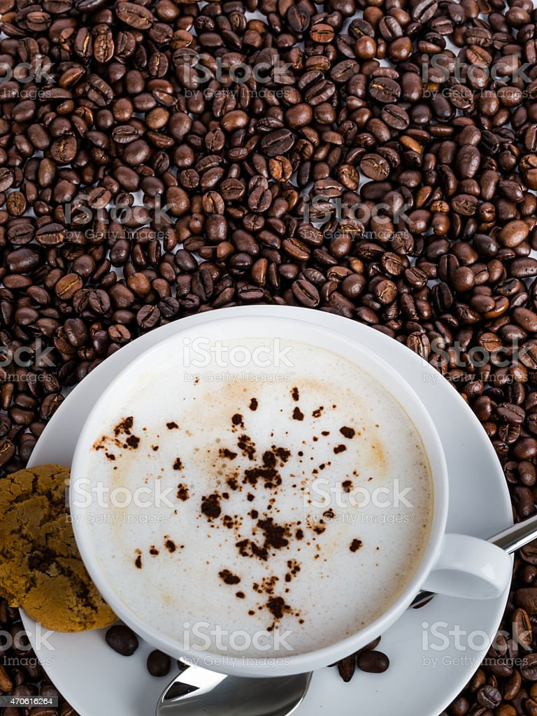 The Morning Coffee Wallpaper stock photo