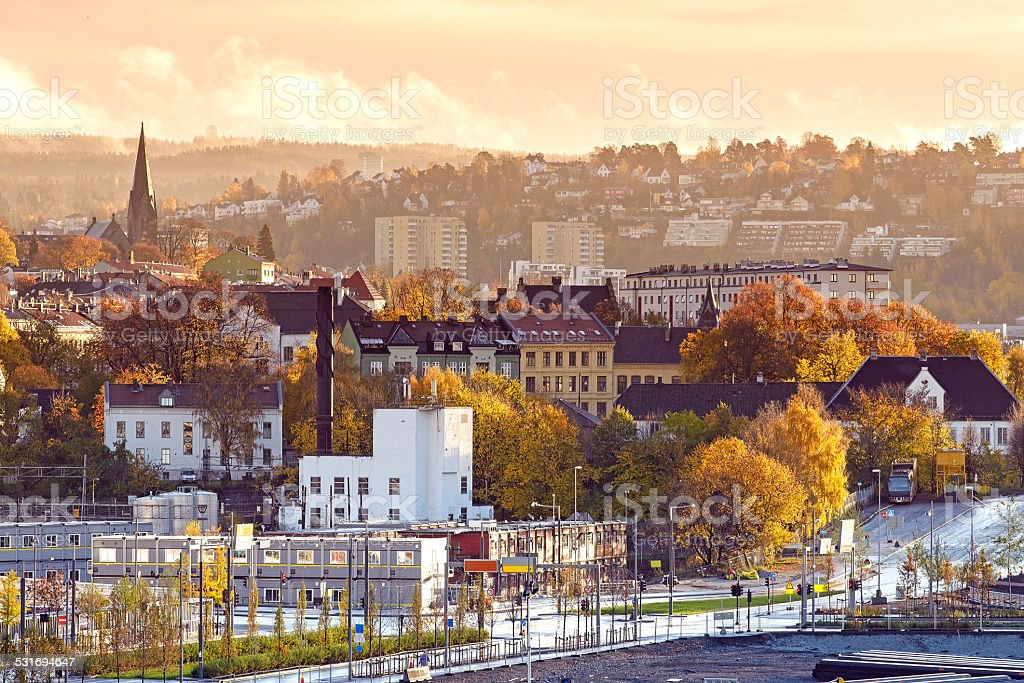 The Morning of Oslo, Norway stock photo