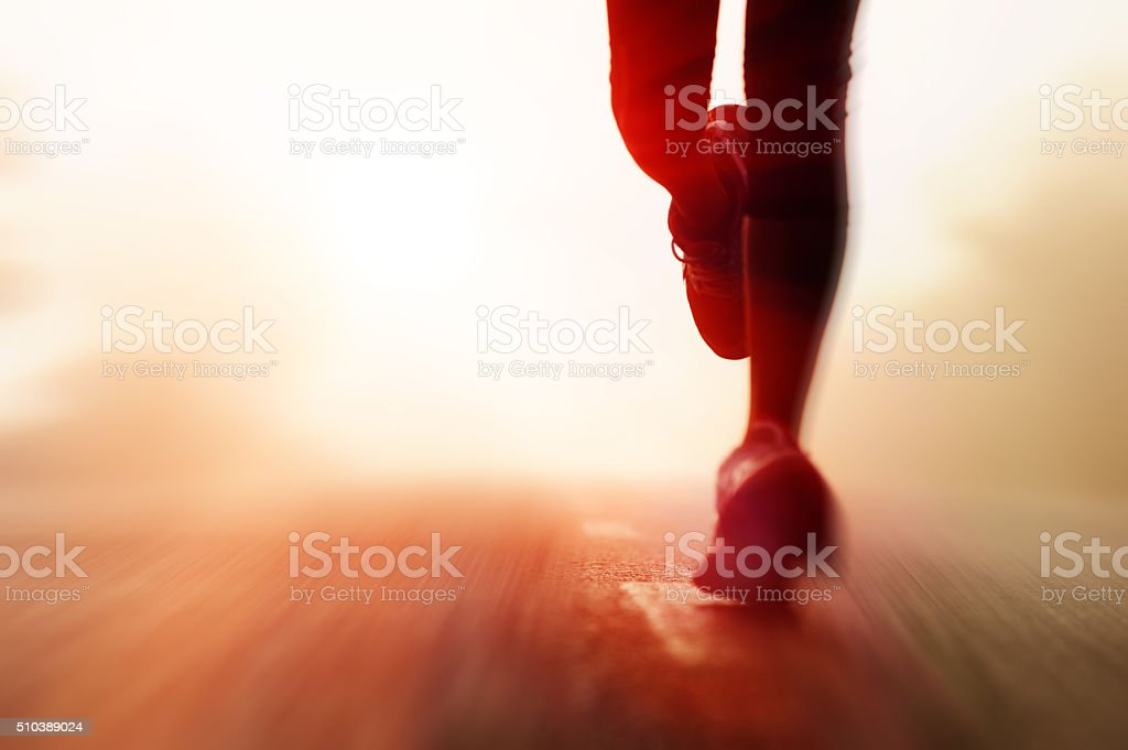The morning race stock photo