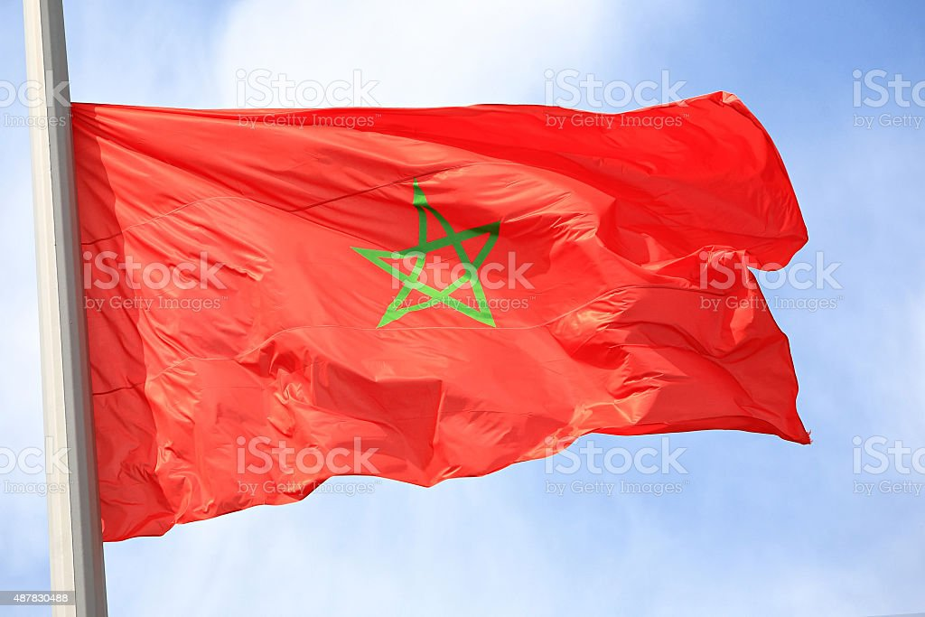 The Moroccan flag stock photo