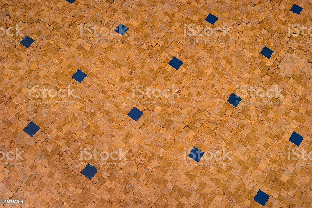 The mosaic floor. stock photo