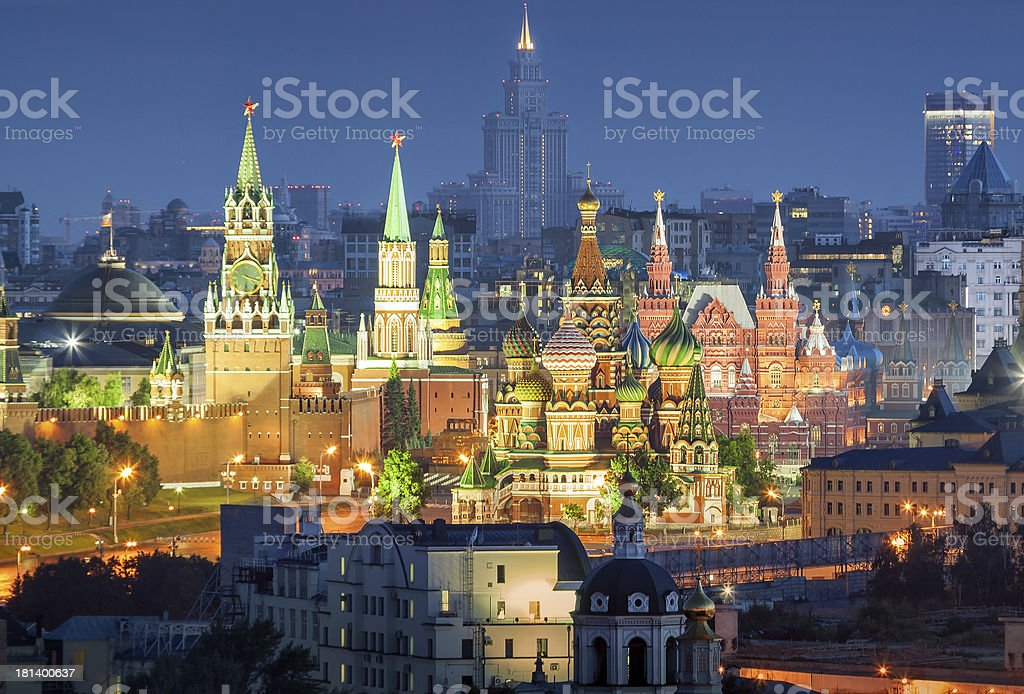 The Moscow Kremlin stock photo