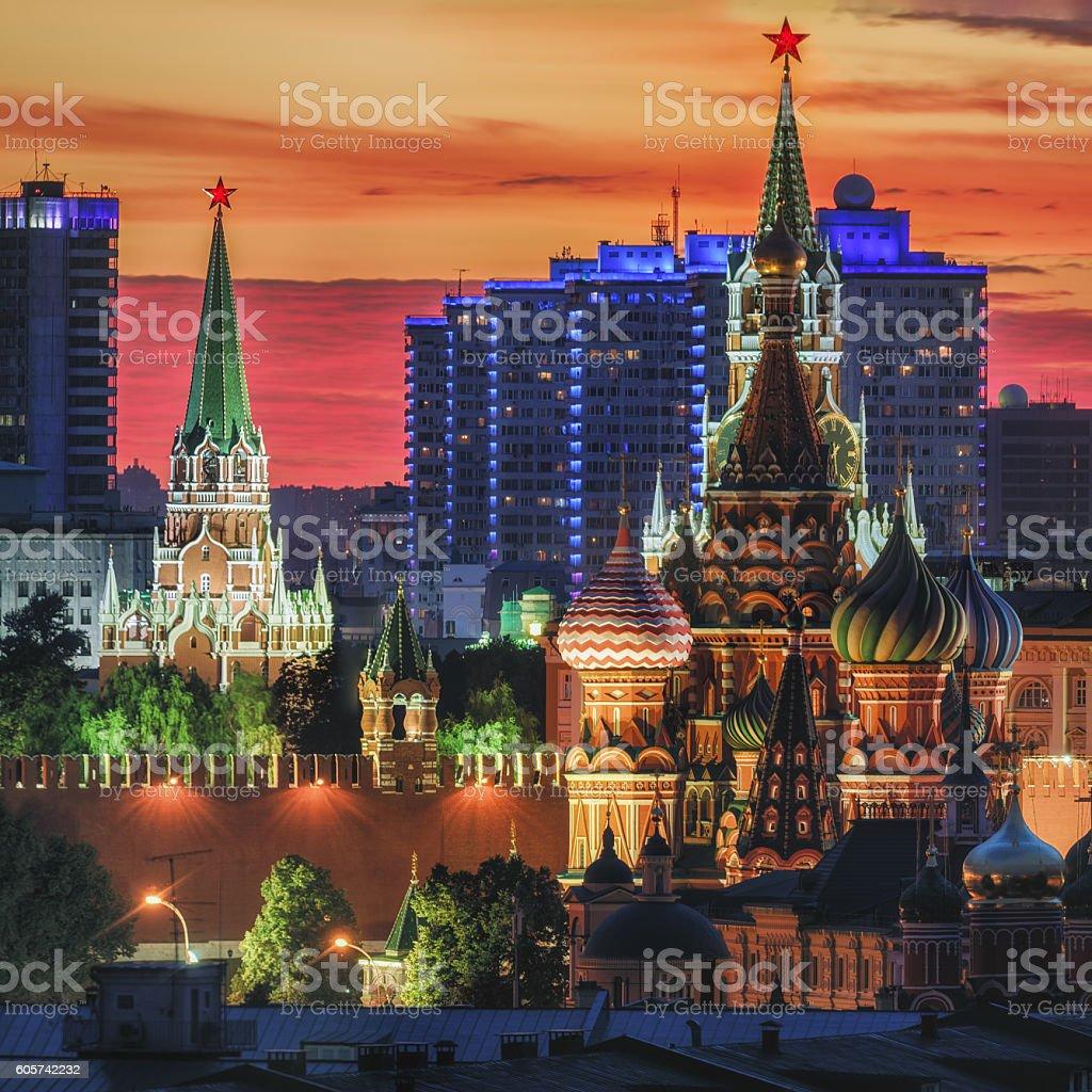The Moscow Kremlin stock photo