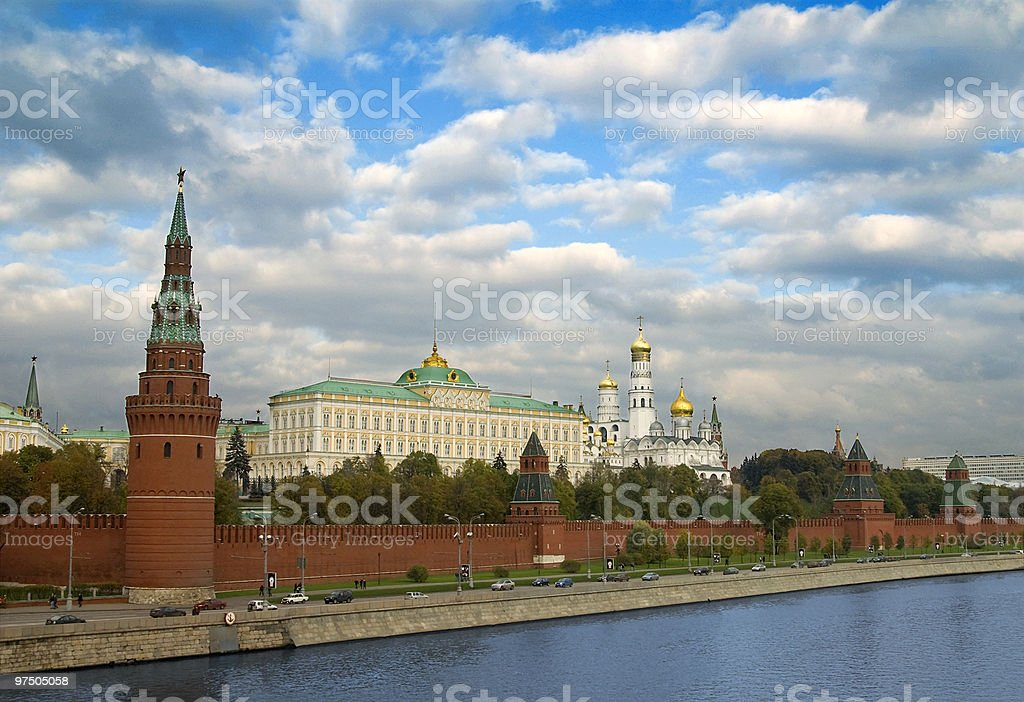The Moscow Kremlin royalty-free stock photo