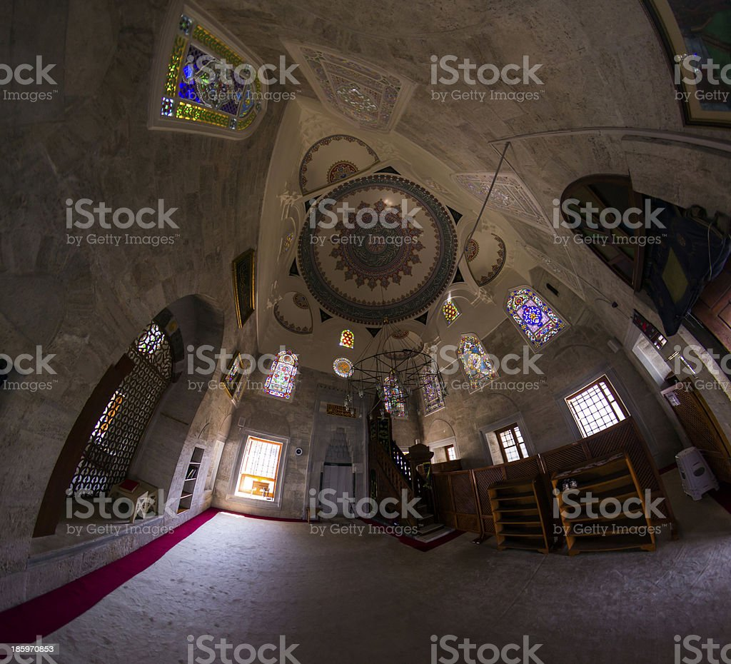 the Mosque Birds do not land royalty-free stock photo