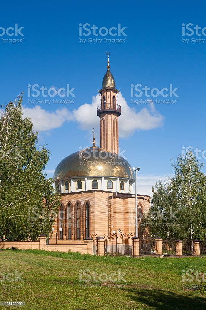 The mosque in Nizhnekamsk town (Tatarstan, Russia) stock photo