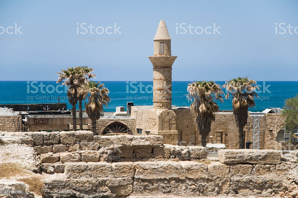 The Mosque of Caesarea Maritima, Israel stock photo