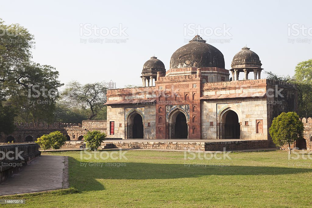 The Mosque Of Isa Khan, Delhi, India stock photo