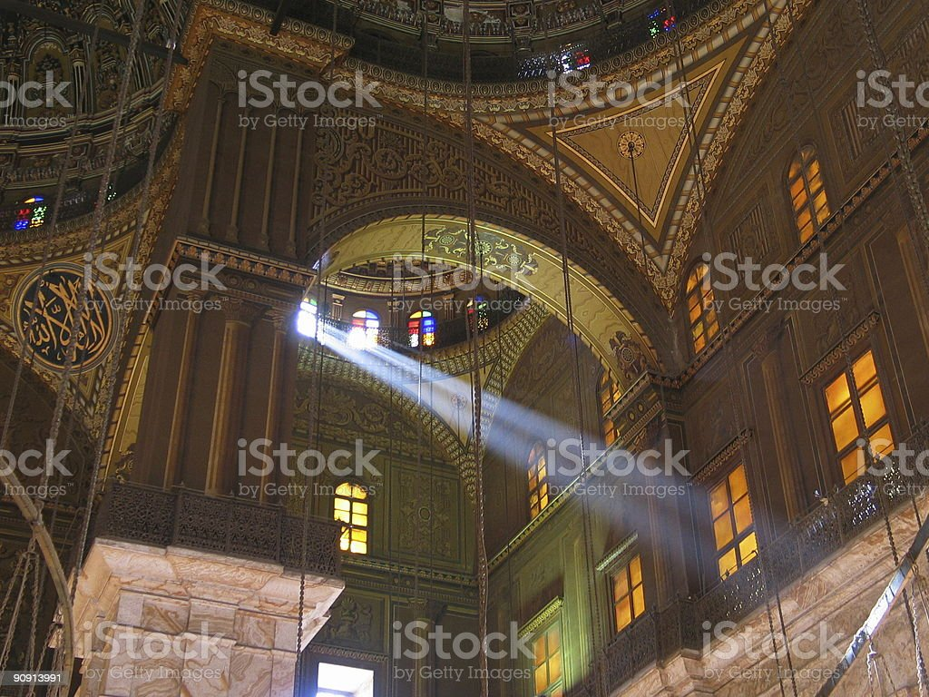 The Mosque of Muhammad Ali - Cairo , Egypt royalty-free stock photo
