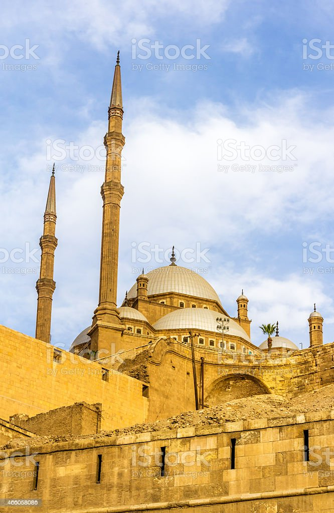 The Mosque of Muhammad Ali in Cairo - Egypt stock photo