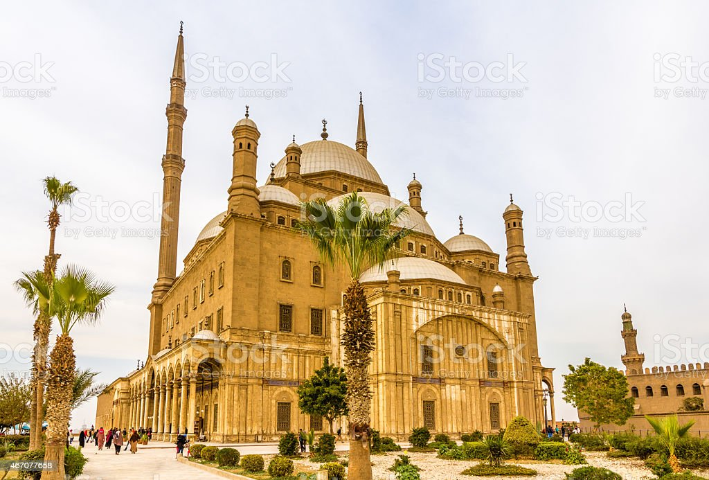 The Mosque of Muhammad Ali Pasha in Cairo stock photo