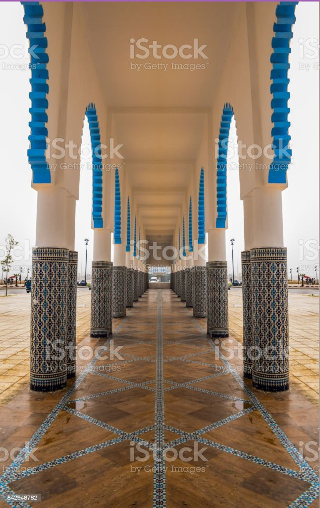 The mosque side walk alley stock photo