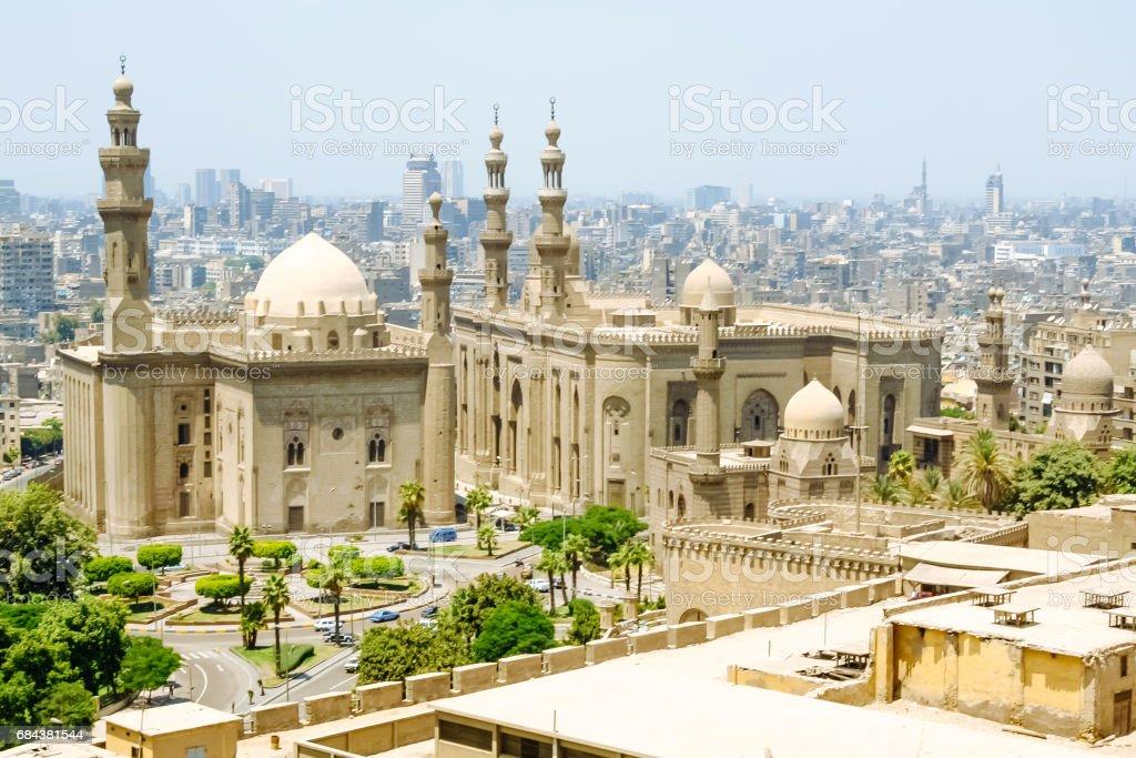 The Mosque-Madrassa of Sultan Hassan located near the Saladin Citadel in Cairo, Egypt. stock photo
