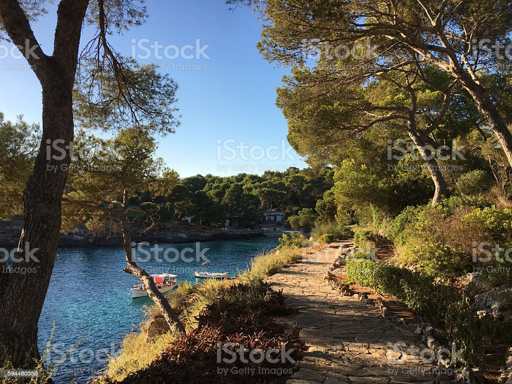 The most beautiful beach in Mallorca (Balearic Islands - Spain) stock photo