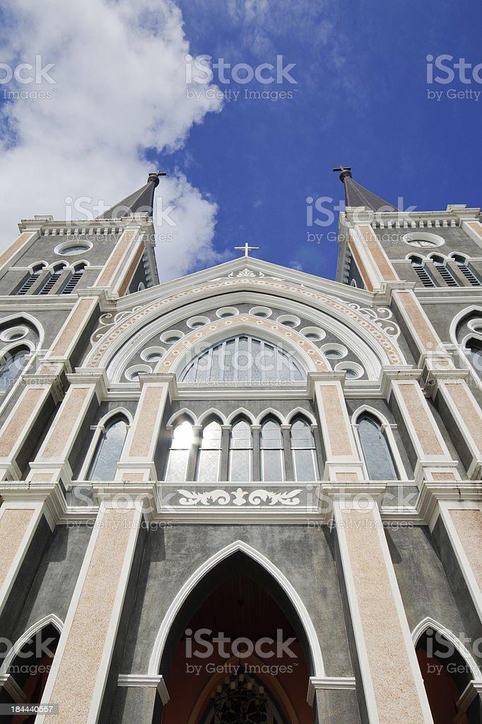 The Most beautiful Catholic Church, Chanthaburi province, Thailand royalty-free stock photo