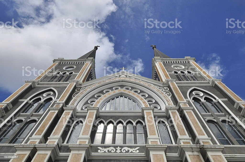 The Most beautiful Catholic Church, Chanthaburi province, Thailand royalty-free stock photo