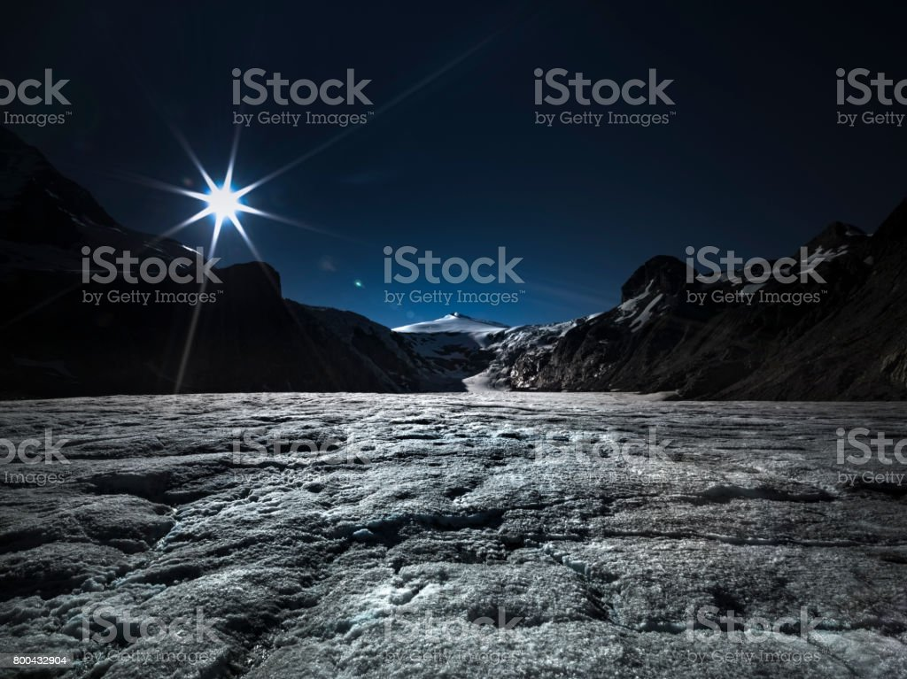 The most beautiful glacier in the Austrian Alps stock photo