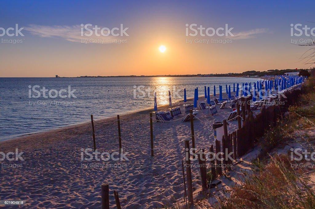 The most beautiful sandy beaches of Apulia:Porto Cesareo (Lecce).ITALY (Salento) stock photo