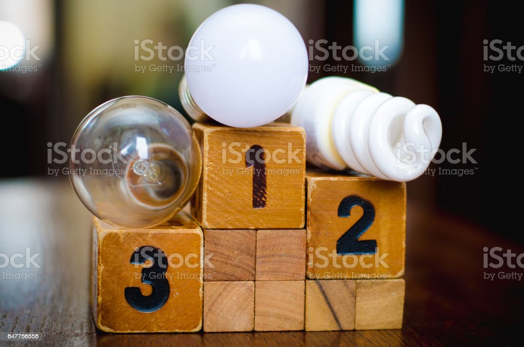 The most economical light stock photo